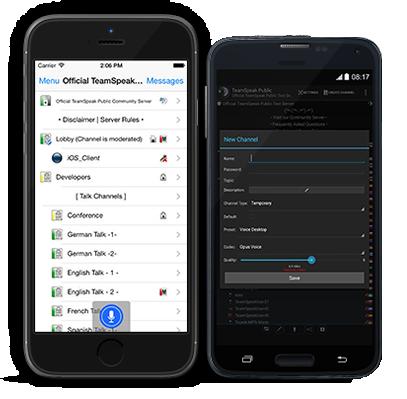 TeamSpeak 3 mobile